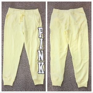 VS PINK Everyday Lounge Classic Pant Yellow NWOT